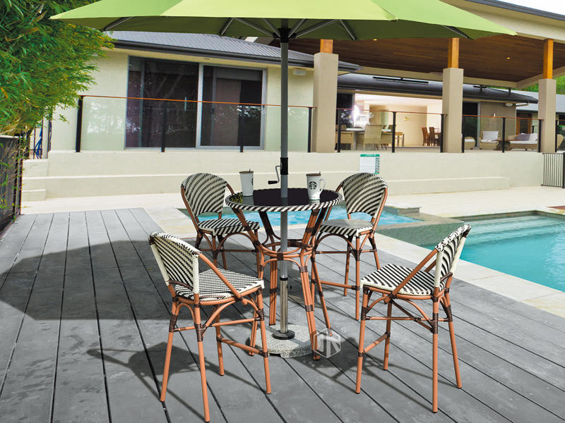 Outdoor leisure simple rattan bar table and stool 1+4 - DR-4128