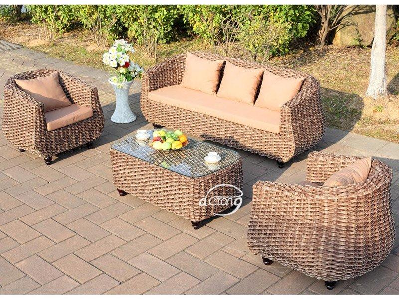 Garden furniture luxury thick rattan sofa set DR-2163