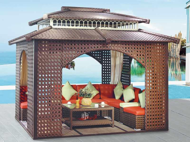 Gazebo rattan outdoor patio gazebo - DR-1132A