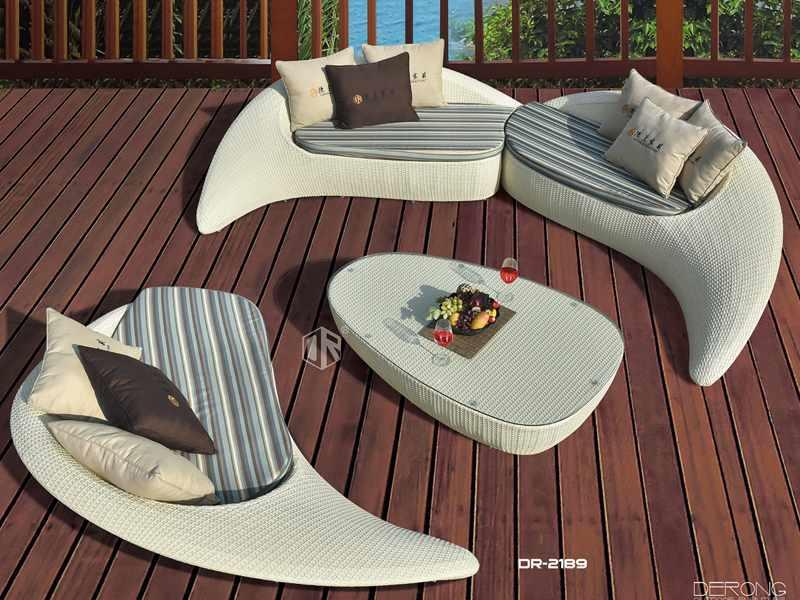 patio wicker furniture fancy outdoor sofa set -DR-2189