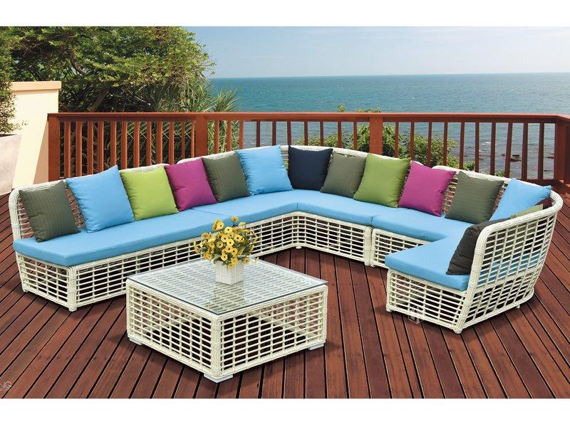 wicker furniture thick rattan outdoor sofa set -DR-2181