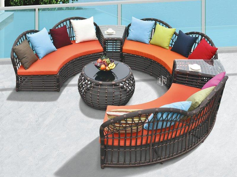 Rattan garden furniture sets outdoor sofa set DR-2191