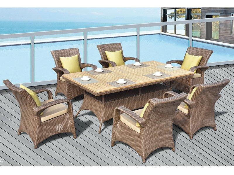 Wicker garden furniture sets table & chair - DR-3355