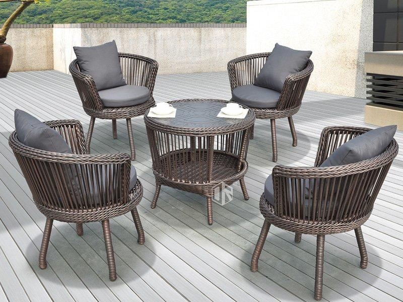 Garden outdoor wicker patio furniture 1+4 leisure furniture set DR-3172A