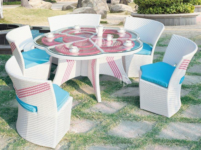 Outdoor patio furniture 1+5 flower table and chairs DR-3231