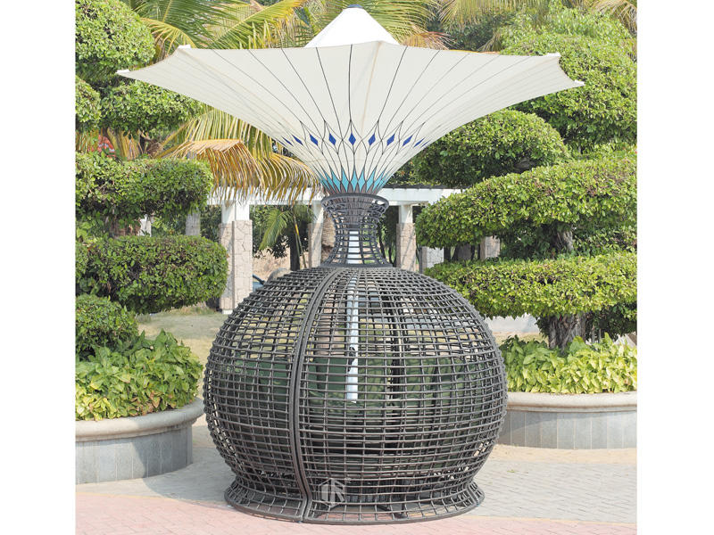 Rattan patio furniture sets ball shape sofa set -DR-2167