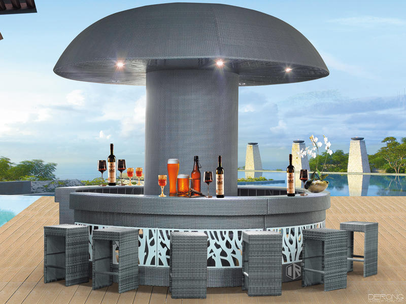 Commercial Bar counter set outdoor club furniture  - DR-1137&4117C