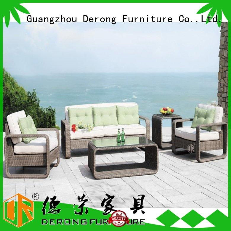 Derong Furniture stable rattan garden sofa set series for home