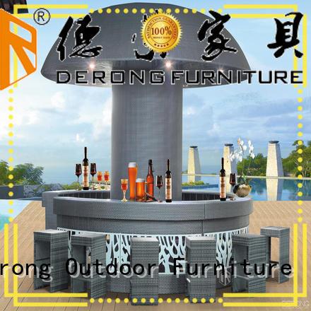 Derong Furniture leisure rattan bar set factory for leisure clubs