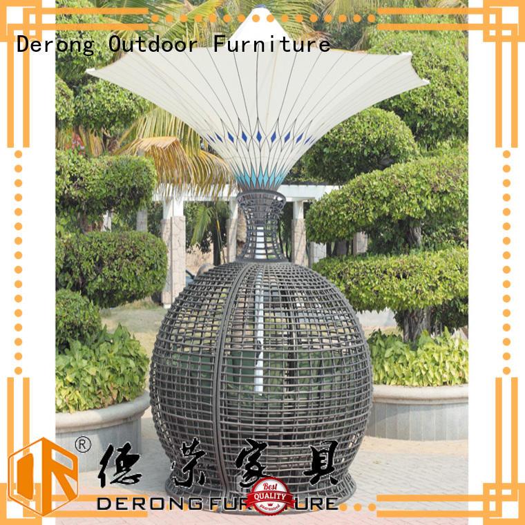 Derong Furniture white rattan seat manufacturer for villa