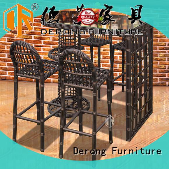 Derong Furniture aluminum frame sonneninsel polyrattan series for coffee shop