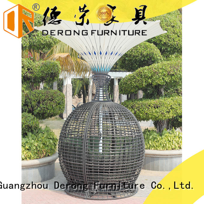 Derong Furniture Latest outdoor wicker sofa company for park