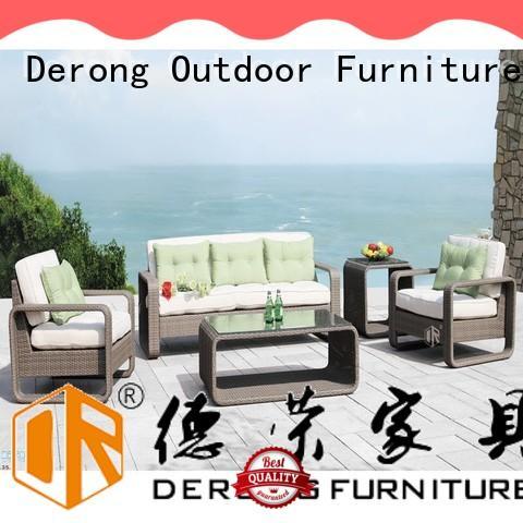 stylish rattan garden corner sofa with cushion and pillow manufacturer for garden