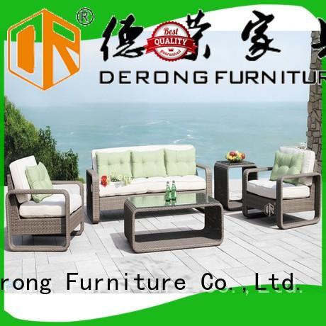 Derong Furniture Best rattan wicker patio set company for garden