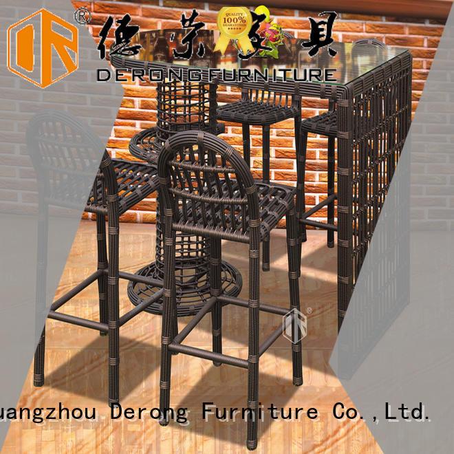 Derong Furniture Custom rattan lounge set Supply for garden
