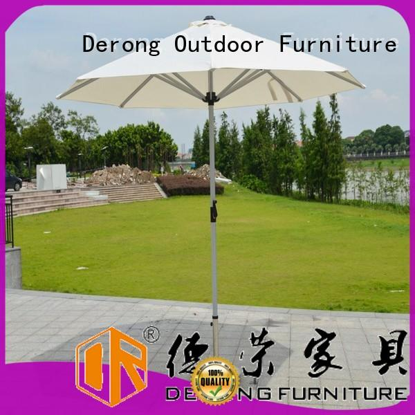 Derong Furniture central posted square patio umbrella factory for beach
