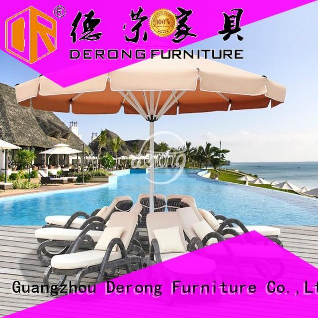 Derong Furniture aluminum frame canvas patio umbrella Suppliers for leisure clubs