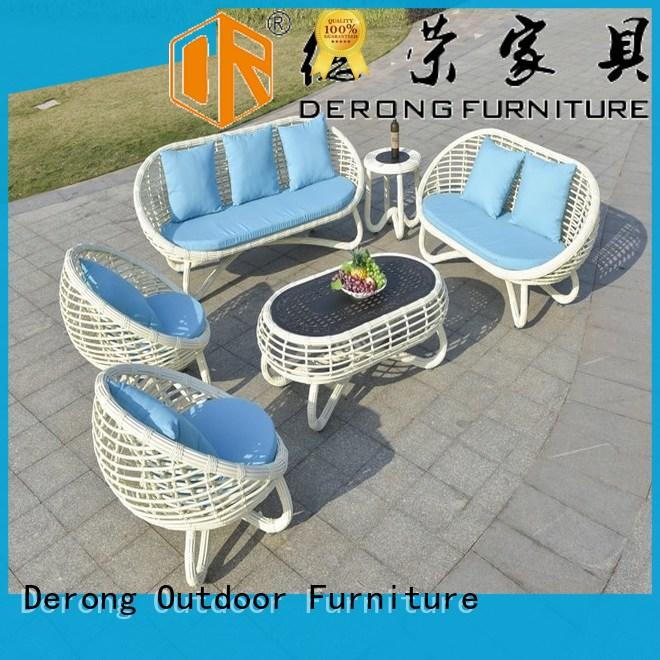 Derong Furniture white rattan cube garden furniture Suppliers for garden