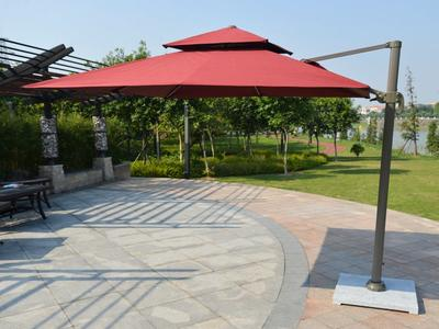 Sun Aluminum Alloy Frame Roma Round Patio Umbrella - DR-6101A