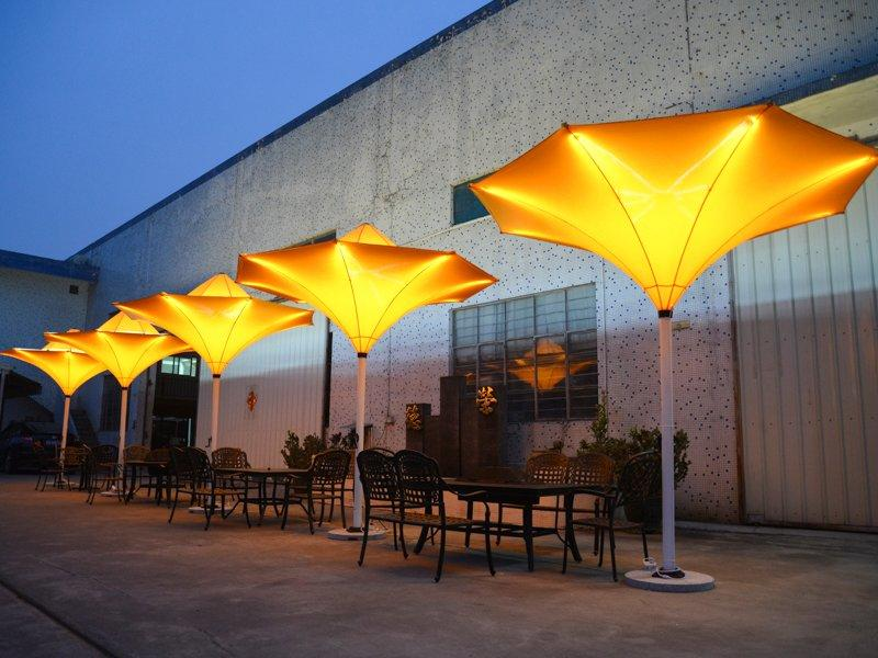 sun umbrella patio Tulip umbrella with LED light - DR-6122A