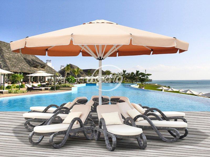large patio umbrellas Big Dia 5m/6m outdoor round beach umbrella - DR-6126