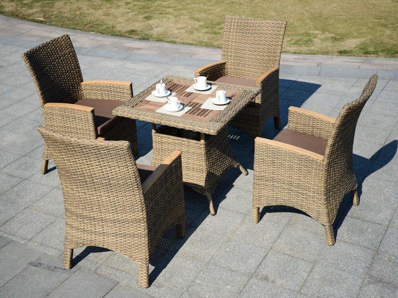 rattan garden furniture sale PE Rattan patio coffee shop table & chair - DR-3106