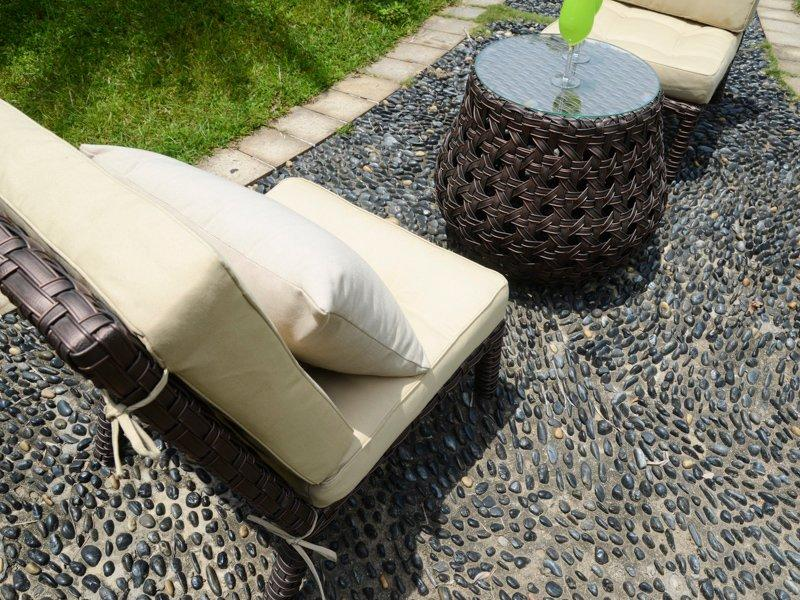 rattan garden furniture PE rattan hotel room table & chair - DR-3275