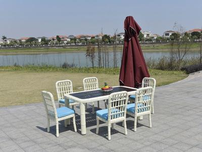 Wicker Patio Furniture 1+6 Rattan Table And Chairs- DR-3306