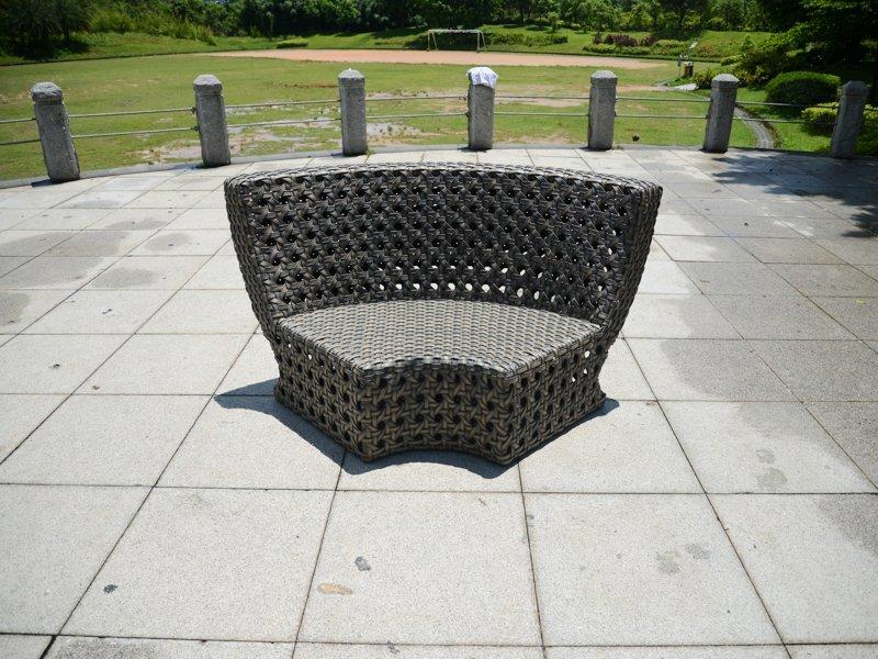 wicker outdoor furniture PE Rattan garden bowl shape sectional sofa with table - DR-2169