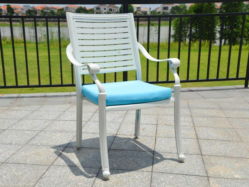 American simple style patio cast aluminum garden table and chairs - DR-3332