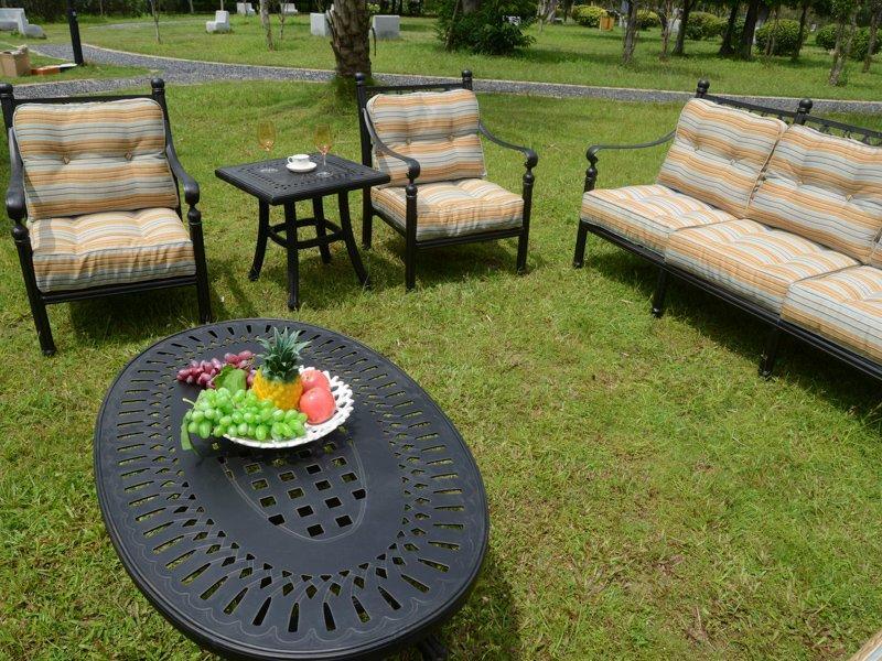 Villa patio weatherproof cast aluminum sofa set - DR-2170