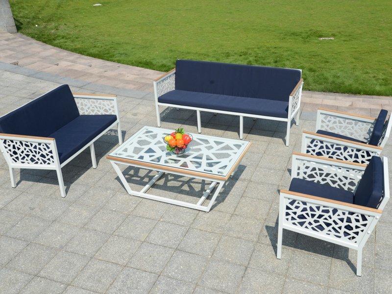 curve patterns hotel patio garden cast aluminum sofa - DR-2188