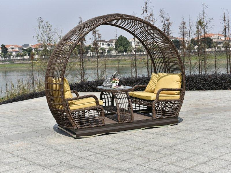 Garden 4 People outdoor double glider with pagoda - DR-8123C