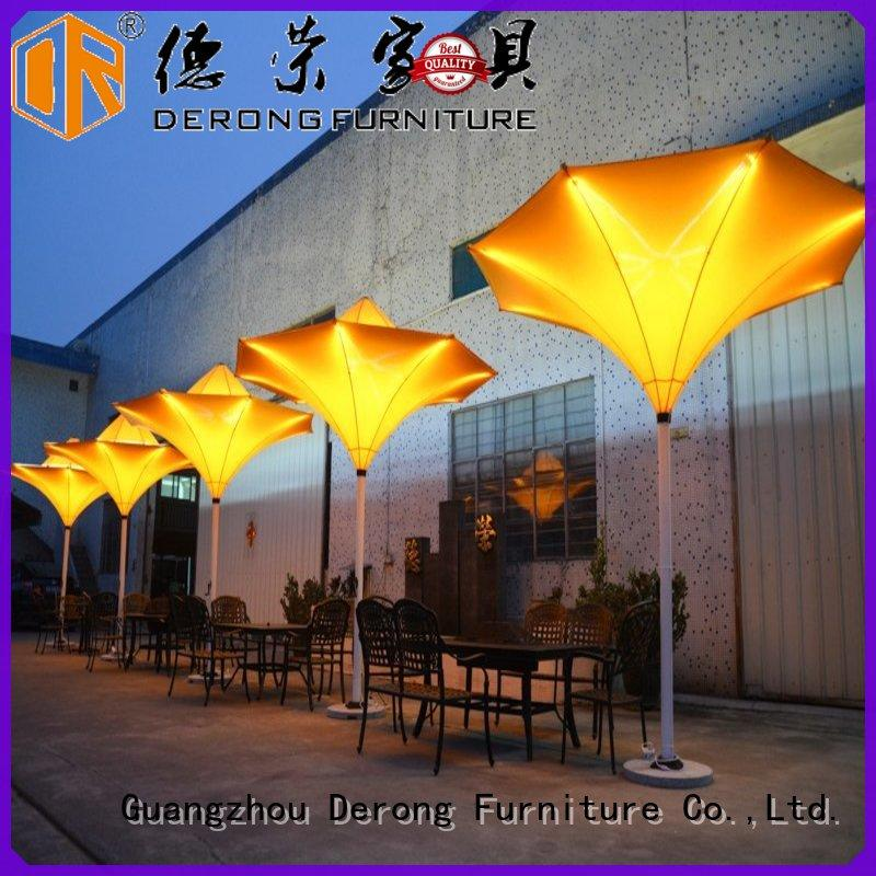 High-quality canvas patio umbrella double layers factory direct supply for coffee shop