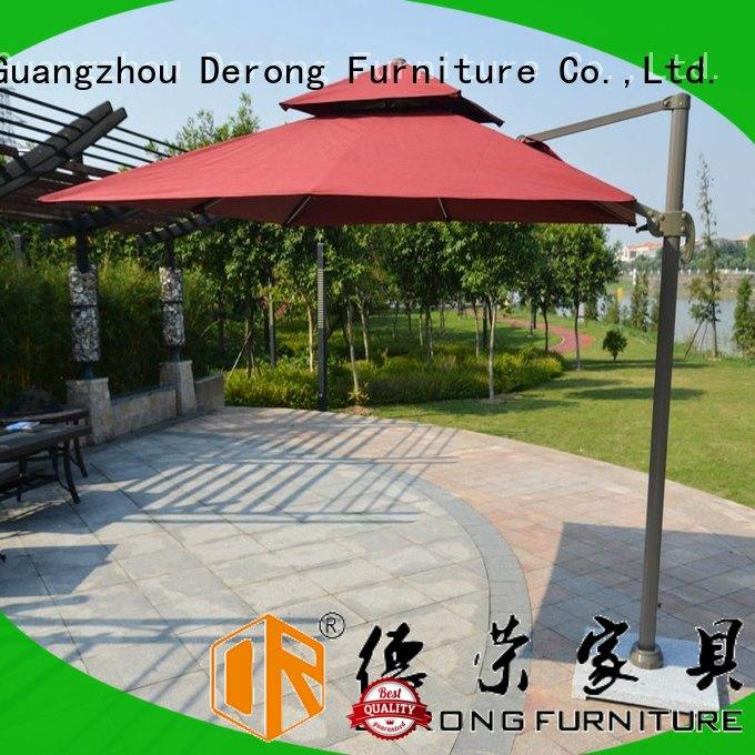 New large rectangular patio umbrella with LED light factory for hotel