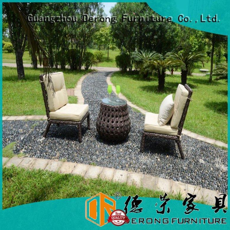 Derong Furniture Best rattan set for business for restaurant