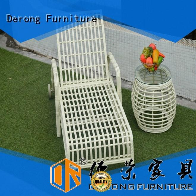 Derong Furniture Custom patio chaise lounge chair factory for seaside