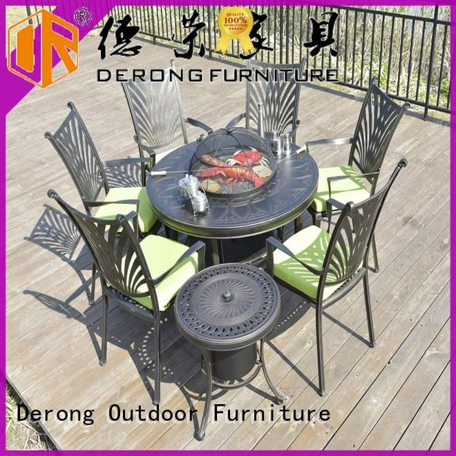 Derong Furniture high quality aluminium table from China for garden