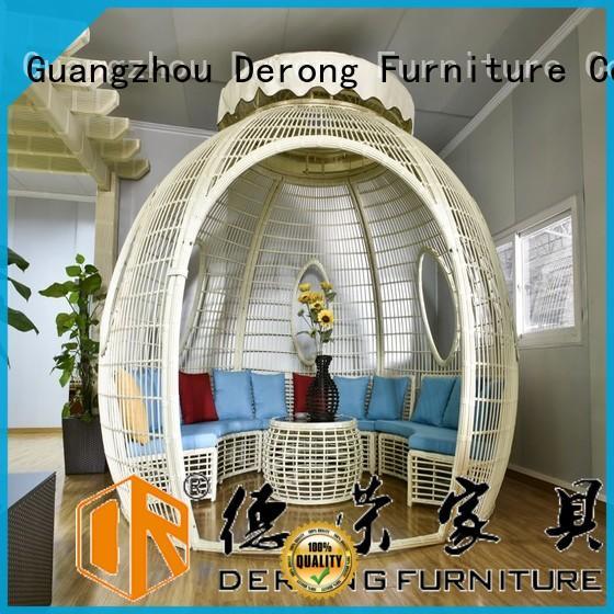 Derong Furniture luxury round gazebo company for seaside