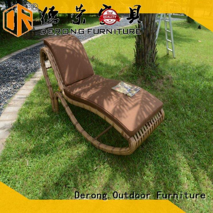 Derong Furniture Wholesale chaise lounge bench factory for resort hotel