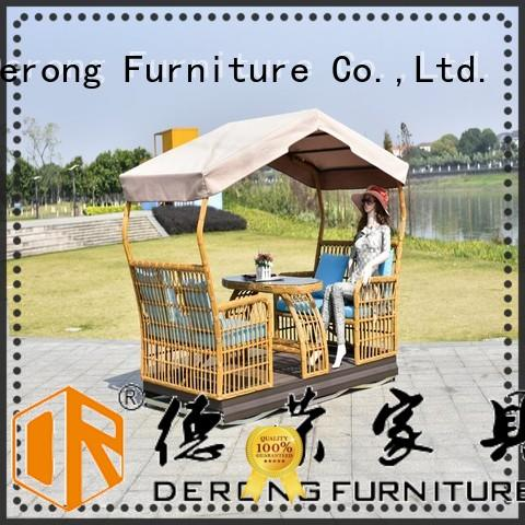 Derong Furniture with canopy glider swing company for garden