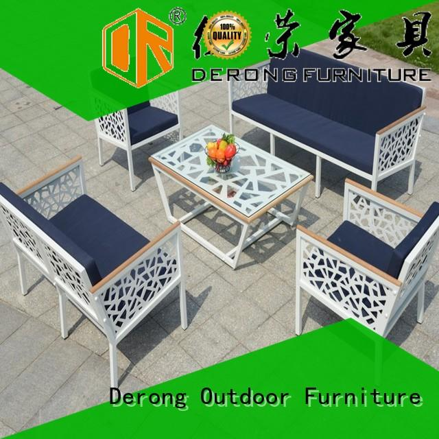 Top cast aluminum garden furniture hollow-carved design manufacturers for park