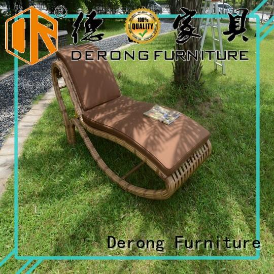 Derong Furniture high heel shape patio chaise for business for seaside