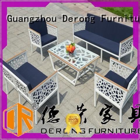 Derong Furniture hollow-carved design cast aluminum furniture for business for park