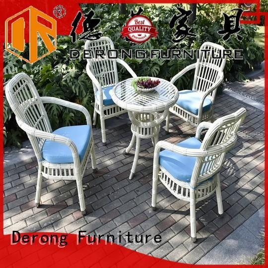 Derong Furniture square wicker furniture for sale manufacturer for seaside
