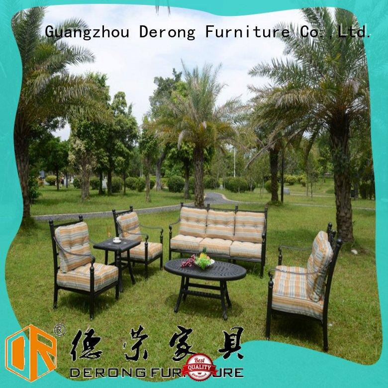 Derong Furniture comfortable aluminium outdoor sofa manufacturers for park