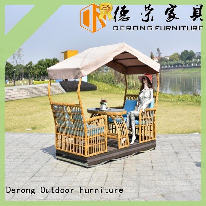 Derong Furniture New outdoor glider rocker factory for resort hotel