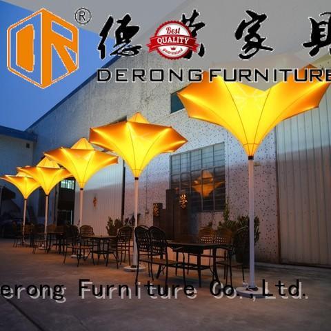Derong Furniture Custom white outdoor umbrella factory for coffee shop