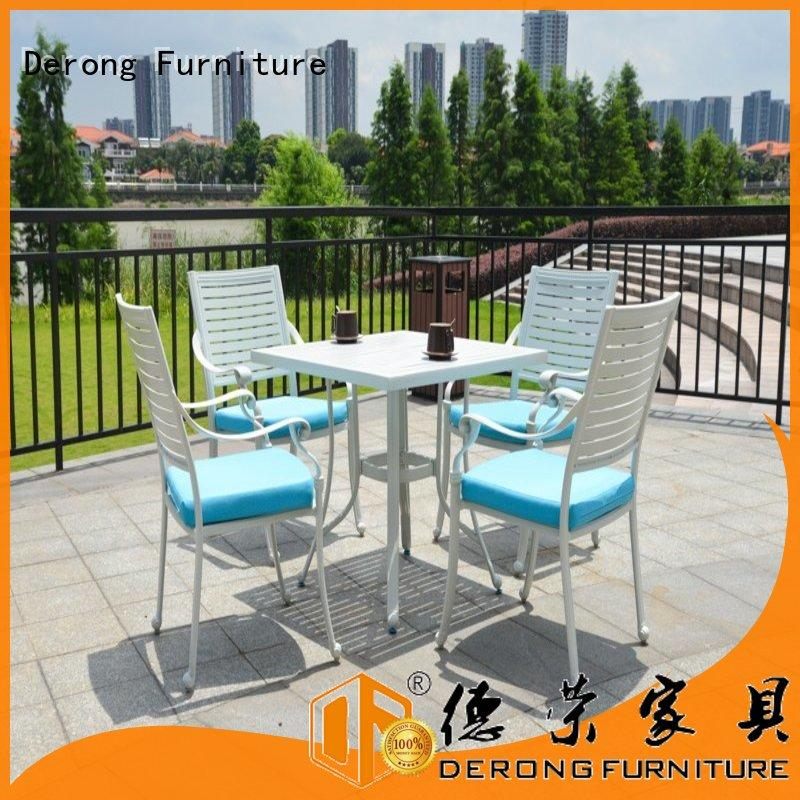 Derong Furniture with barbecue grill outdoor aluminum dining set Supply for seaside