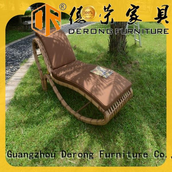 Latest patio chaise lounge chair PE rattan manufacturers for seaside